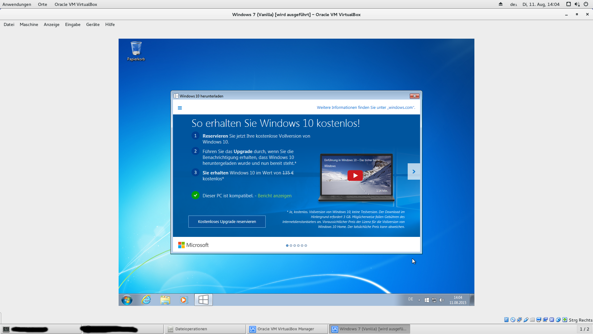 update von windows 7 auf windows 10