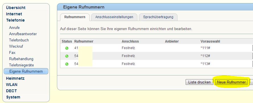 GELÖST - FritzBox 10, Fax einrichten