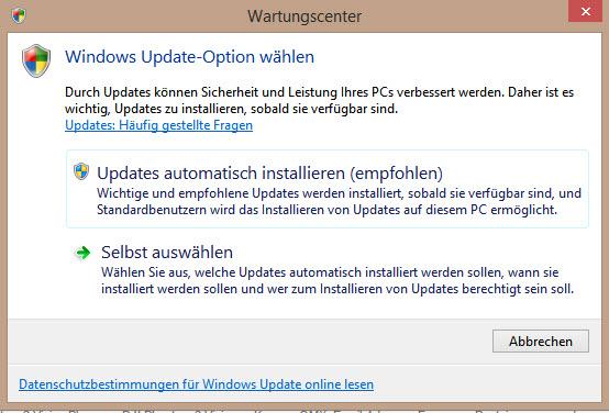 Hinweismeldung vom Wartungscenter zu Windows Update Einstellungen-problem_meldung_wartungscenter.jpg