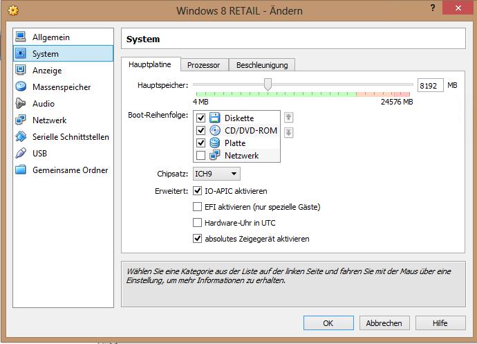 GELÖST - erfolgreich installiertes BS in Virtualbox startet