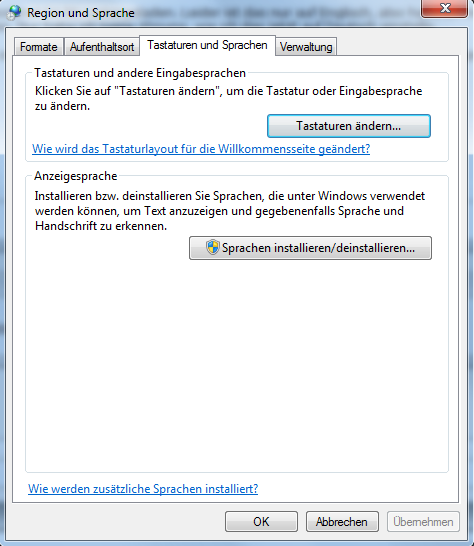 windows 7 anzeigesprache