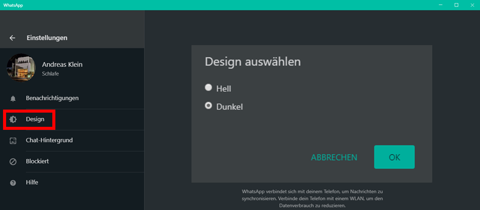 WhatsApp,Web,Desktop,Dark,Mode,dunkler,Modus,Dunkelmodus,Dark Mode für WhatsApp am PC aktivier...png
