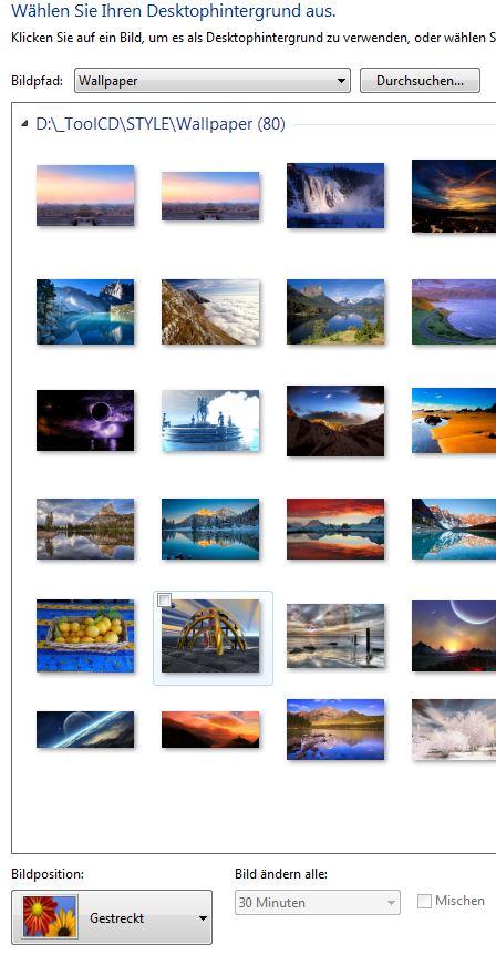 Desktop hintergrund bildposition andern