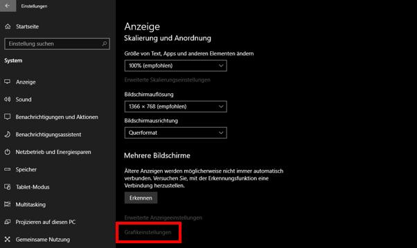 Windows 10,Grafikeinstellungen,Universelle Apps,Klassische Apps,Grafikkarten wechseln,GPUs wec...png