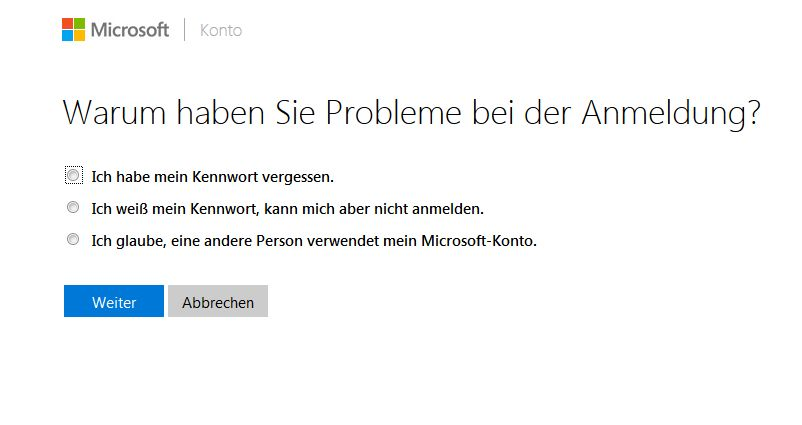Microsoft Konto Passwort Vergessen Handy