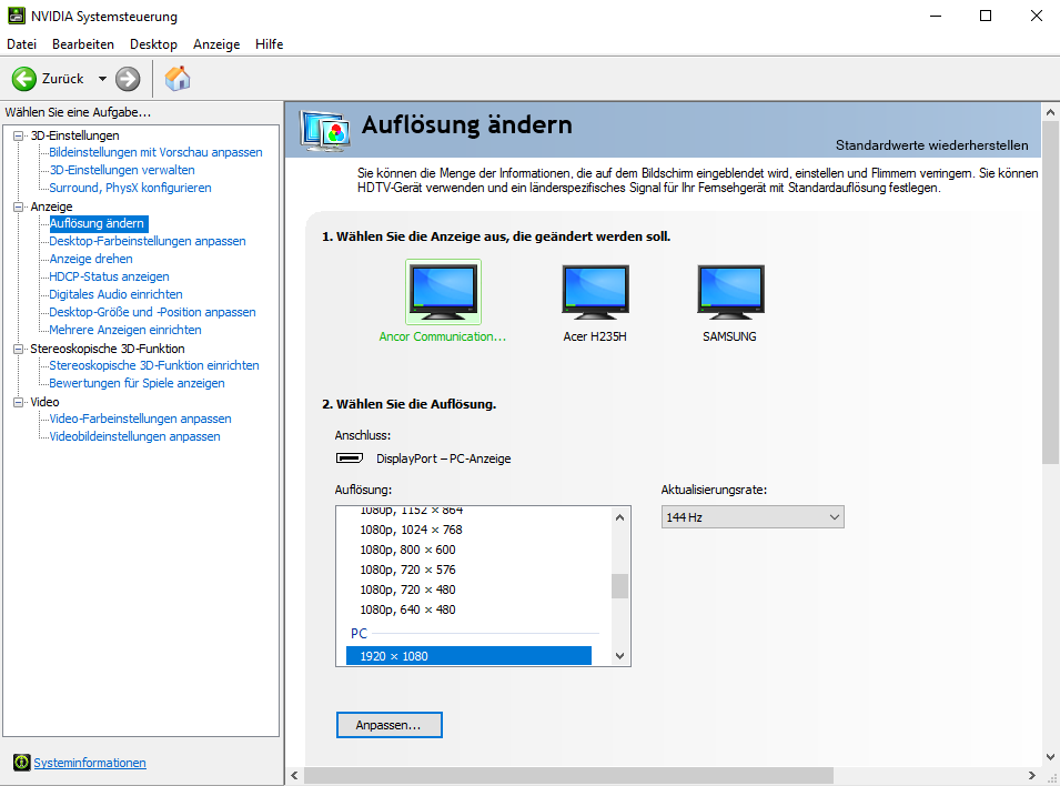Windows 10 erkennt zweiten monitor nicht hdmi