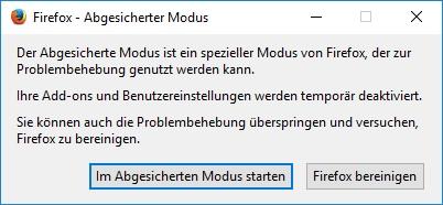 Firefox Startet Nicht Richtig