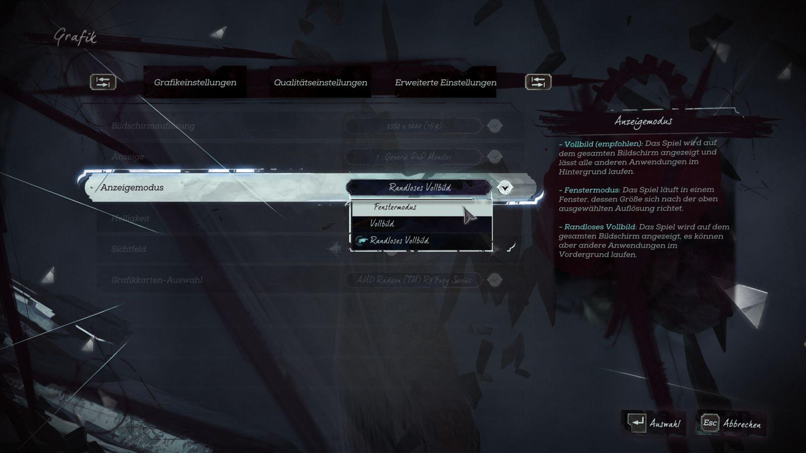 Spiel Vollbild Tastenkombination