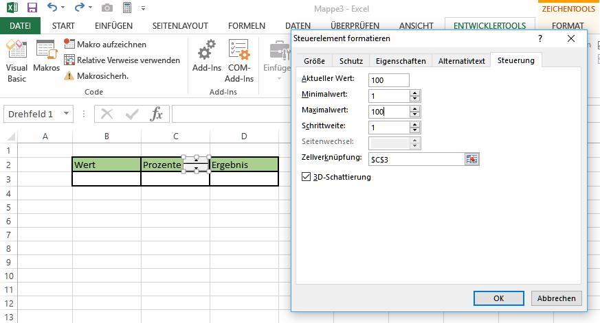 Drehfeld Excel
