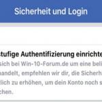 Zweistufige Authentifizierung in Facebook am Desktop PC und in Android und iOS aktivieren