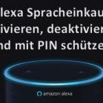 Amazon Echo Geräte mit Alexa Spracheinkauf nutzen und Spracheinkauf per PIN Code schützen