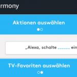 Neue Regeln aus Logitech Harmony Skill in die Alexa App zur Sprachsteuerung übernehmen