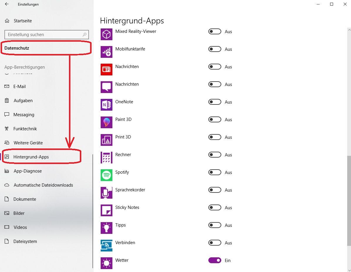 windows 10 foto app deaktiviert