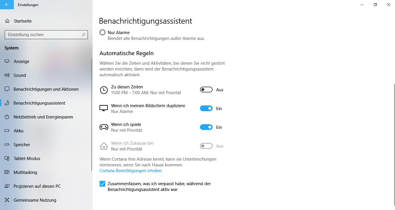 Windows10BenachrichtigungsassistentaktivierendeaktiviereneinrichtenpersonalisierenAlarme-3.png