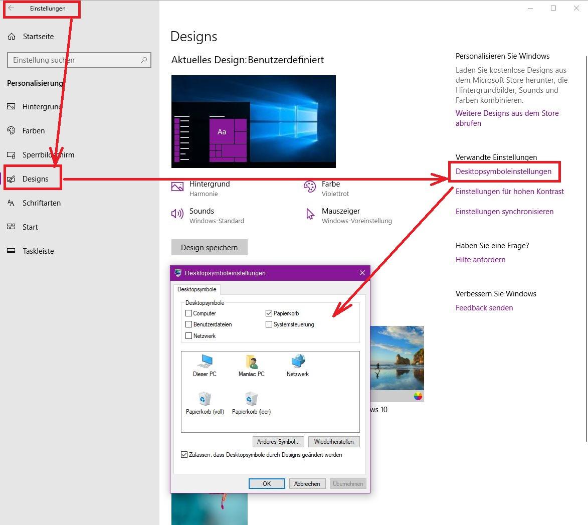 Windows 10: Desktopsymbole wiederherstellen - so geht´s
