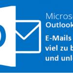 E-Mails in Microsoft Outlook 2016 werden viel zu breit und unlesbar dargestellt? Das kann helfen!