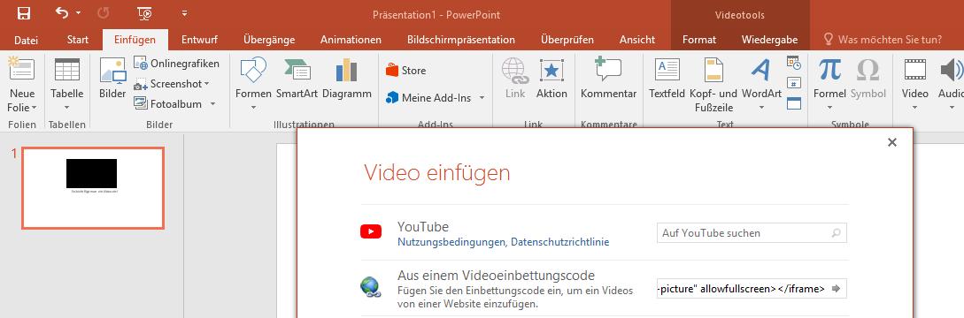 MicrosoftPowerPointPräsentationYouTubeVideoOnlineeinbindeneinbettenhinzufügenYouTube-Video-einbettenPowerPoint-PräsentationVideo-einbindenVideo-hinzufügenOnline-Verbindung-3.png