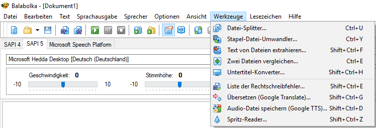 BalabolkaSprachausgabeTexte-vorlesenSprache-umwandelnText-to-SpeechTTSSoftwareText-in-Sprache-umwandelnnutzenverwendenspeichernSoundfileTextfileSoundTextDateiFileFormate-3.png