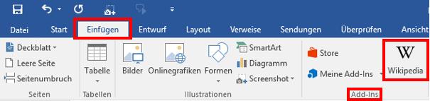 MicrosoftOfficeWordWord-2016WikipediaEintragArtikelWord-DokumentWikipedia-in-Word-Dokument-einbindenübernehmennutzenverwendeneintragenzitierenQuelleQuellenQuelle-LinkLinkautomatisch-verlinken-2.png
