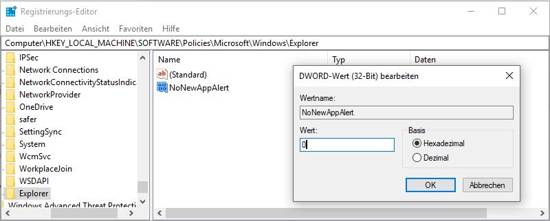Windows-10HomeProProfessionalneue-Appneue-AnwendungPopUpFensterHinweisfesterInfo-CenterGruppenrichtlinienRegistrierungs-Editoraktivierendeaktivierenanaus10Wert-5.png