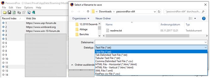 FirefoxBrowserPasswortBenutzernamePasswörterBenutzernamenPasswordPasswordsUser-NameUser-NamessichernspeichernexportierenauslesenanzeigenToolPasswordFoxnutzenverwenden-2.png
