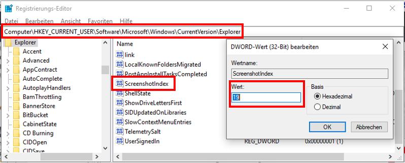 Windows-10ScreenshotSchreenshotsWINDOWSDRUCKZählerNummerierungzurücksetzenauf-Null-stelllenzurückstellenauf-1-Stellenwieder-auf-0-stellenRegistrierungs-Editor-3.png