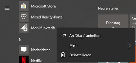Windows-10StartmenüStartMenüEintragMobilfunktarifeStartmenü-EintragStart-Menü-Eintragentfernenlöschenausblendendeinstallierenaus-Startmenü-entfernenaus-Startmenü-löschenneu-installieren-2.png