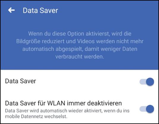 FacebookBilderPhotosGrafikenFotosVideoskomprimierendeaktivierenAutostartdeaktivierenabschaltenDataSaverData-SaveraktiviereneinschaltennutzenverwendeneinrichtenDatenvolumenmobile-Daten-3.png