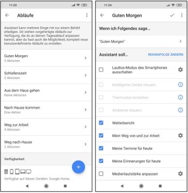 Abläufe Mit Google Assistant Erstellen Und Routinen über