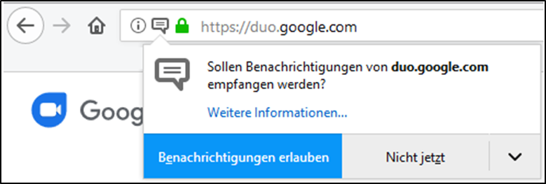 GoogleDuoWindows7810BrowserWebbrowserMozillaFirefoxAppleSafariGoogleChromeWebversionWeb-VersionGoogle-DuoWindows-10einrichtennutzenverwendenaktivierenanmelden-4.png