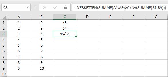 MicrosoftOfficeExcelZelleZellenWertWerteErgebnissErgebnisseFormelFormelnVERKETTENkombinierenAusgabezwei-Wertezwei-Ergenissezwei-Formelnin-einer-Zelleberechneneintragennutzenverwenden-5.png
