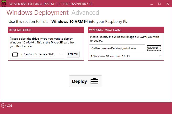 RaspberryPiWindows10onARMWindows10aufARM3B3BWoAInstallerCorePackageImageFilesGitHubRepoRepositoryNientoWindows-10-on-ARMRaspberry-Pi-3BRaspberry-Pi-3Binstalliereninstall-3.png