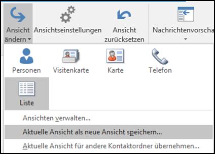 Kontakte In Outlook Als Liste Nach Wahl Formatieren Und