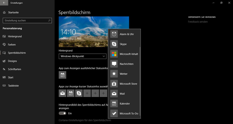 Windows-10Windows10Win-10Win10Windows10SperrbildschirmStatusinfosStatusinformationenXboxNachrichtenWetterMailKalenderanpassenändernpersonalisierenumstellenverändernauswählenInfosStatus-3.png