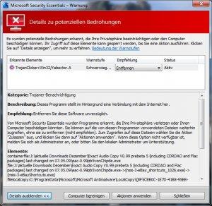 Warnung MSE 02 - Exact Audio Copy Beta auch bei CHIPde.jpg